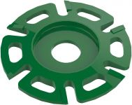 transparent disc green